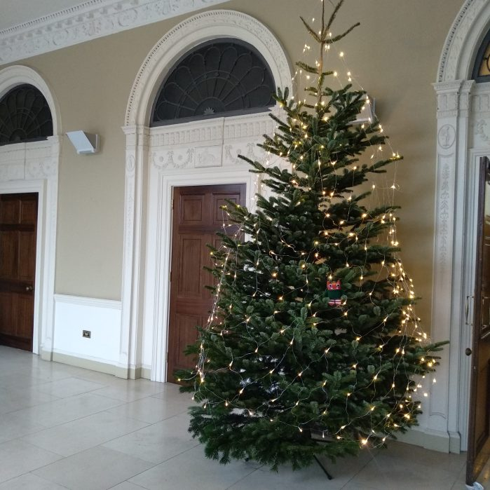 Festive Christmas Tree at the Irish Architectural Archive - CrawCrafts Beasties