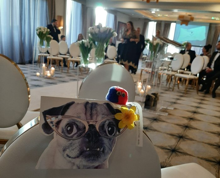Marge the Pug at the Wedding - CrawCrafts Beasties