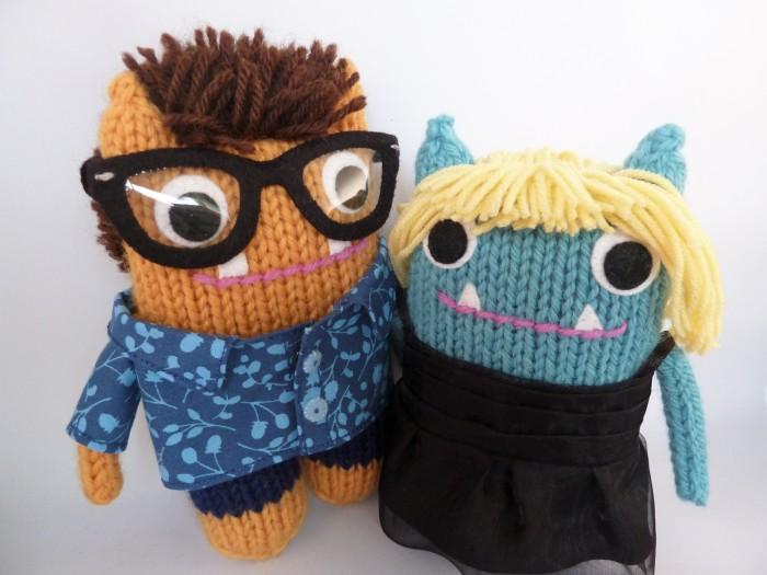 Tammie and Mr Husband Beasties, by CrawCrafts Beasties