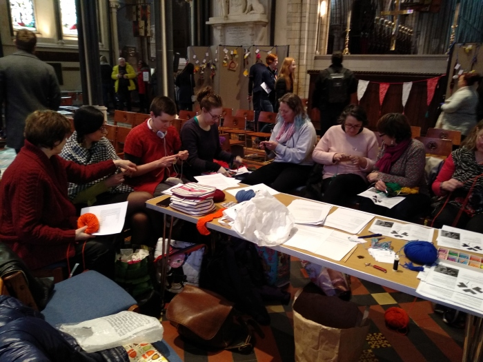 Knitters and Crocheters Take Over St Patrick's Cathedral! CrawCrafts Beasties