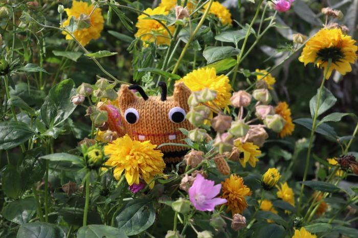 BumbleBeastie in the Herbaceous Border - CrawCrafts Beasties