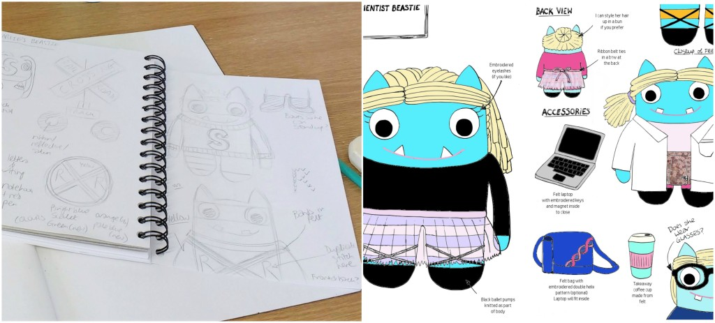 Sketch Stage - Bespoke Order Commissions - CrawCrafts Beasties