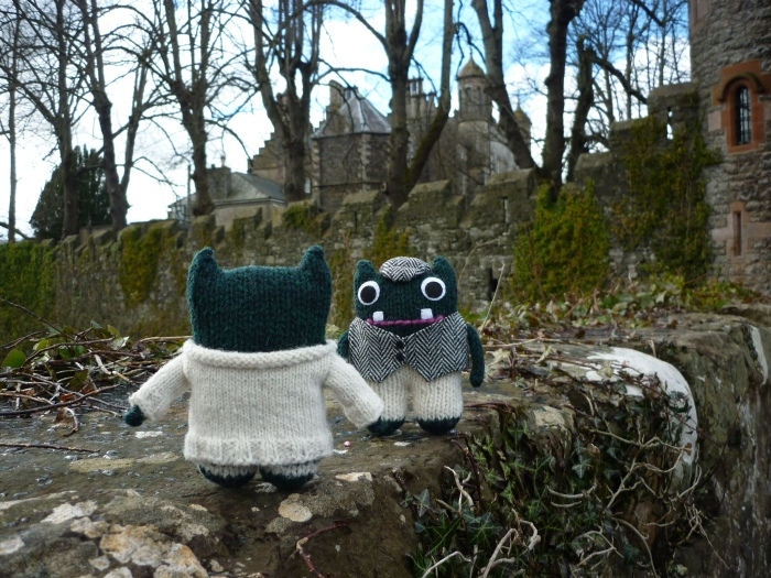 Paddy and Plunkett at Glenarm Castle - H Crawford/CrawCrafts Beasties