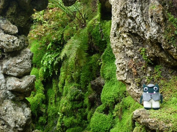Plunkett in the Grotto at Powerescourt - H Crawford/CrawCrafts Beasties