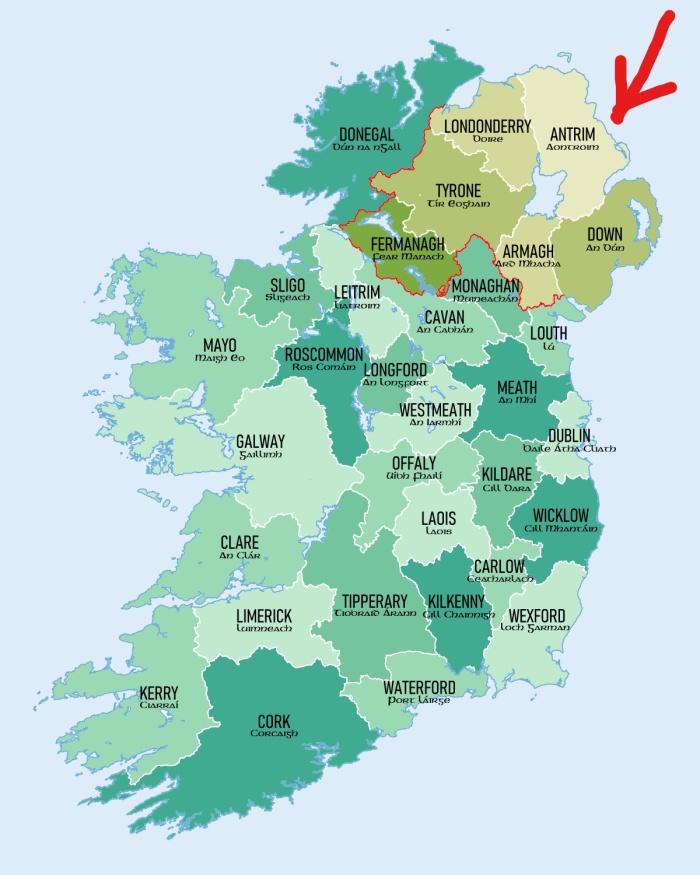 Ireland Showing Antrim
