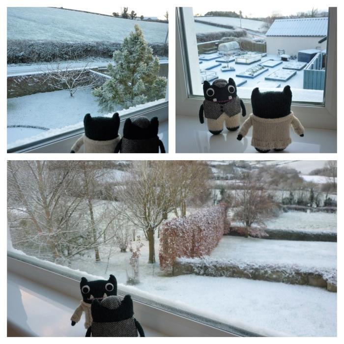 Snow at Beastie Towers - H Crawford/CrawCrafts Beasties