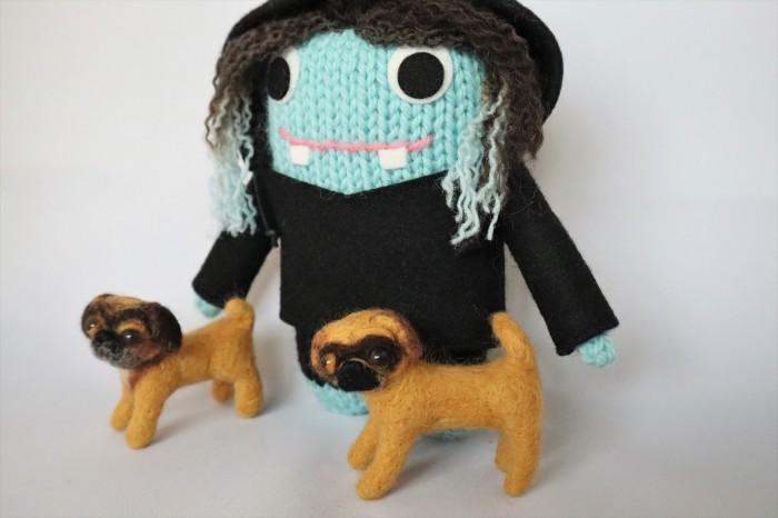 Beastie with Pugaliers and Custom Dye Hair - CrawCrafts Beasties