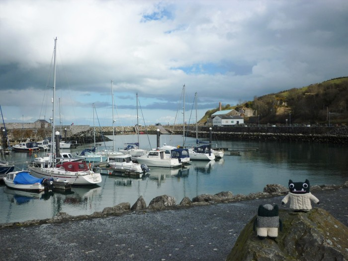 Paddy and Plunkett at Glenarm Harbour - H Crawford/CrawCrafts Beasties