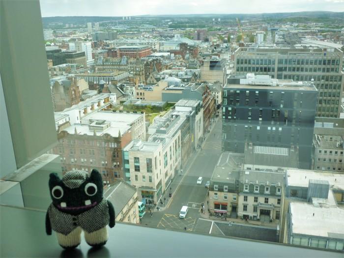 Plunkett Admires the View - Glasgow - H Crawford/CrawCrafts Beasties