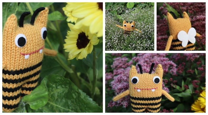 BumbleBeastie at the Herbaceous Border - CrawCrafts Beasties