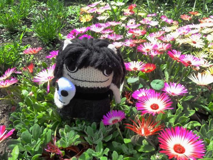 Goth Beastie with Flowers - CrawCrafts Beasties
