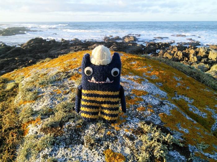 Explorer Beastie by the Sea, Fanad Head - CrawCrafts Beasties