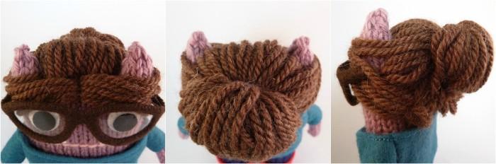 Beastie Hairstyle - A messy bun! CrawCrafts Beasties