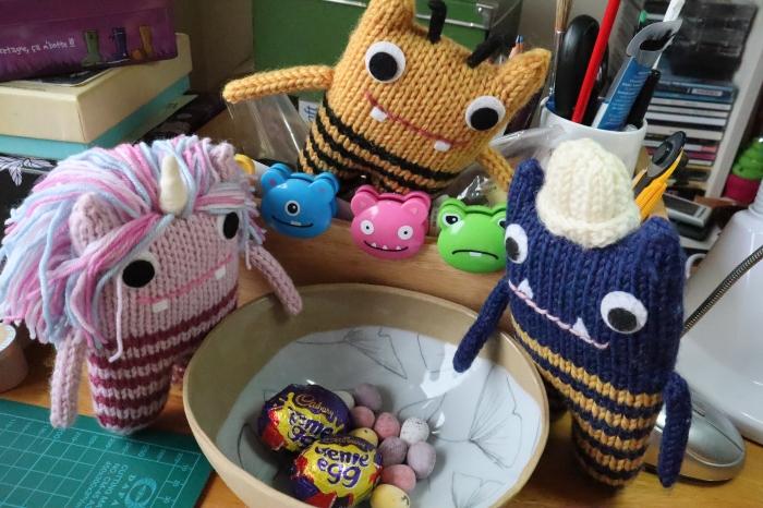 Beaster Eggs on St Patrick's Day - CrawCrafts Beasties