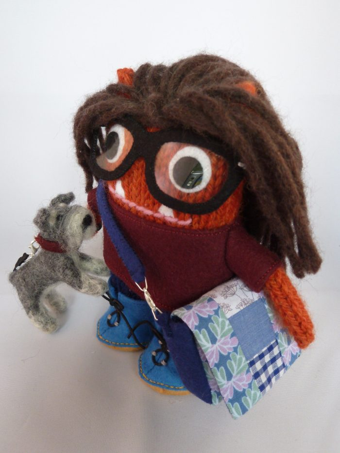 tierneycreates Beastie, A Personalised Knitted Monster by CrawCrafts Beasties