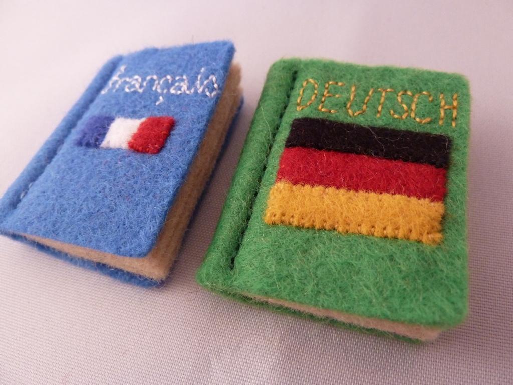 Translator Beastie's French and German Dictionaries - CrawCrafts Beasties