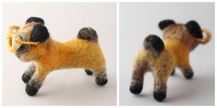 Pug Tail - Needle Felting by CrawCrafts Beasties