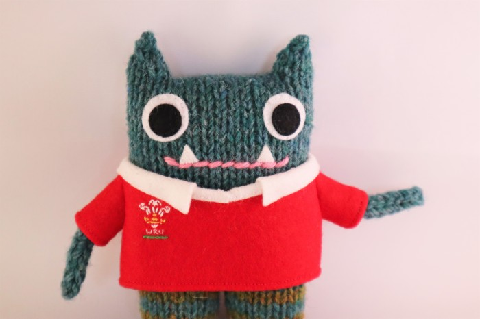 Rugby Shirt Front - Wales Rugby Jersey - CrawCrafts Beasties