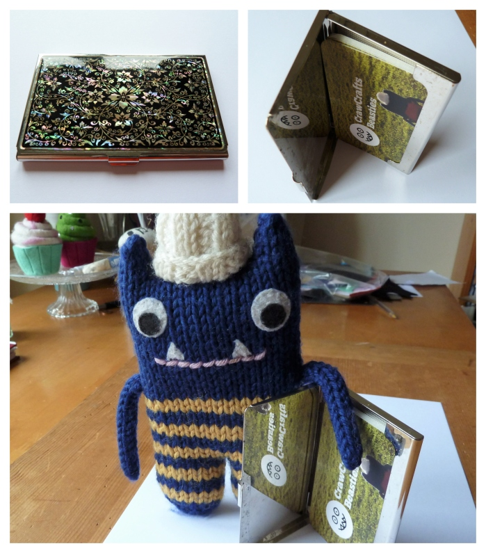 Business Card Holder as Stand - CrawCrafts Beasties