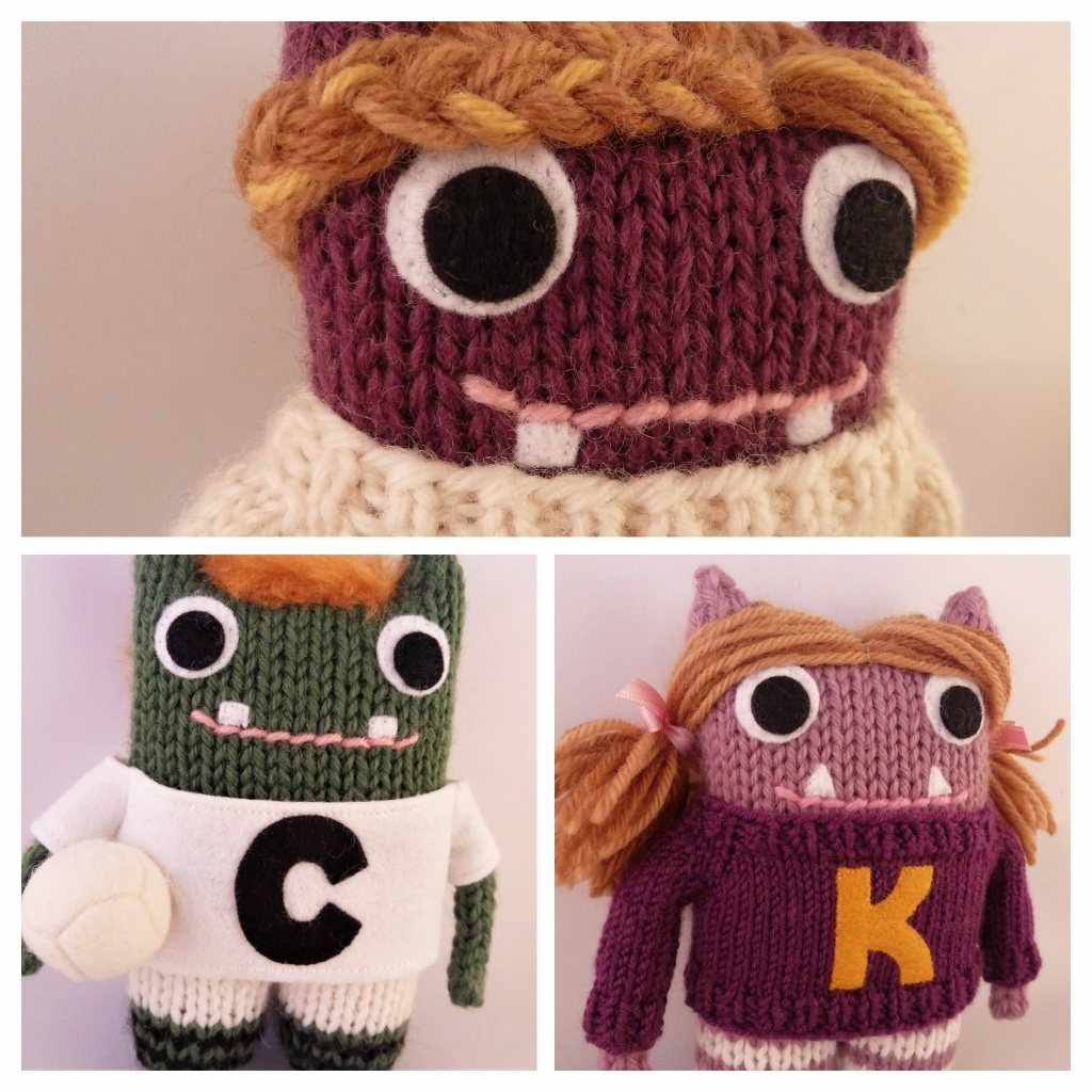 Shannon Cian Kate - Custom-made Knitted Monsters by CrawCrafts Beasties