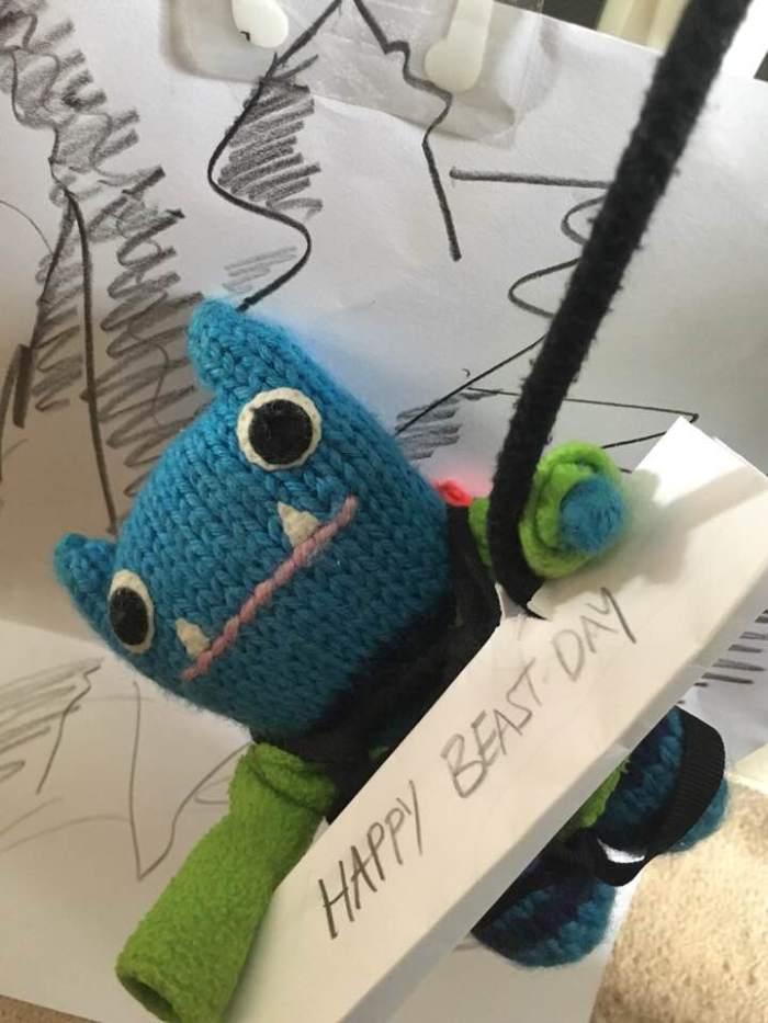 Climber Beastie Drops In - J Donaldson/CrawCrafts Beasties