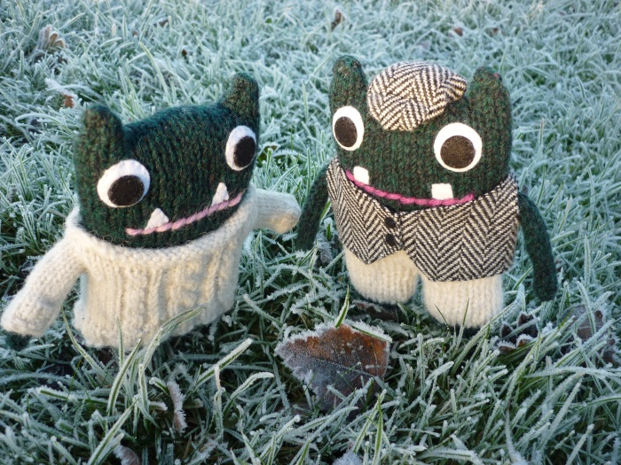 Frosty Leaves - Paddy and Plunkett, by CrawCrafts Beasties