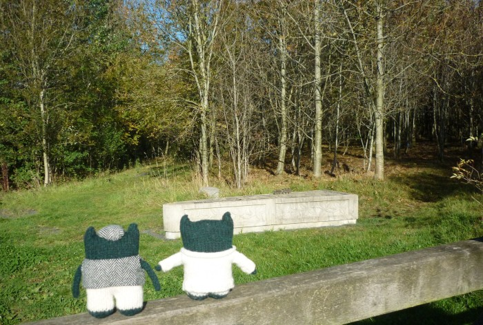 Paddy and Plunkett at Canal Wood - H Crawford/CrawCrafts Beasties