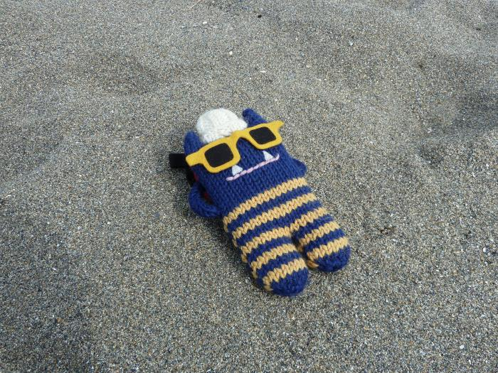 Relaxing on Glencolmcille Beach - CrawCrafts Beasties