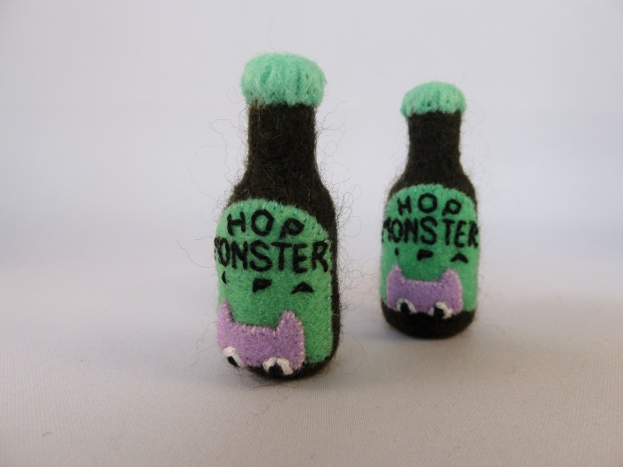 Hop Monster IPA, handmade by CrawCrafts Beasties