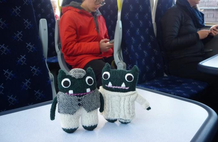 Paddy and Plunkett take the Train - H Crawford/CrawCrafts Beasties