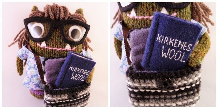 Jan Beastie's Bag and Book - Commissioned Gift by CrawCrafts Beasties