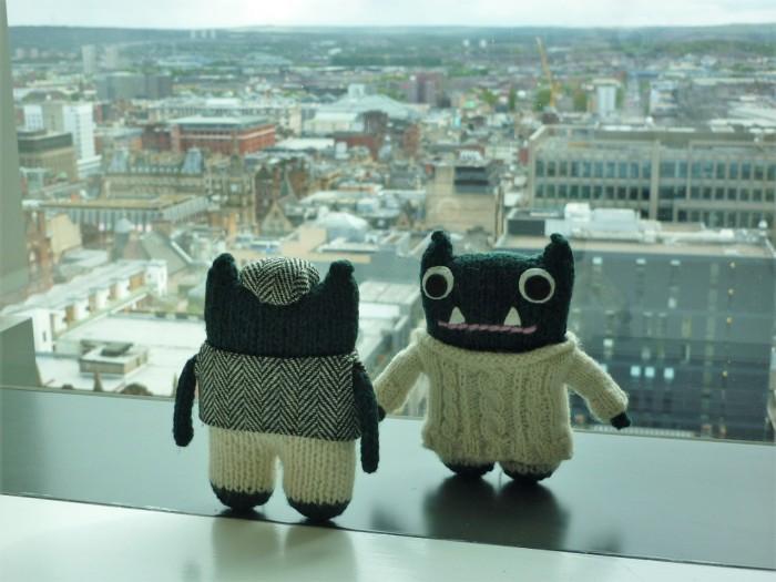 Paddy and Plunkett in Glasgow - H Crawford/CrawCrafts Beasties