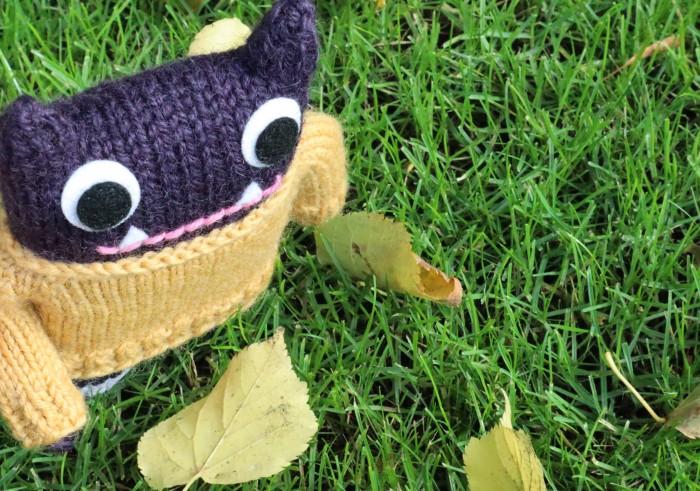 Woolly Jumper Beastie With Leaf - CrawCrafts Beasties