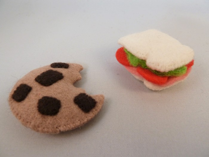Beastie-Sized Cookie and Sandwich, by CrawCrafts Beasties