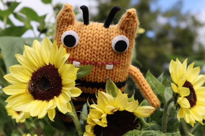 Bees and BumbleBeastie at the Botanic Gardens - CrawCrafts Beasties