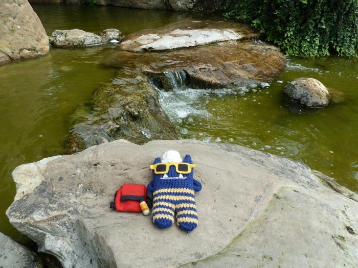Sunbathing by the Stream, Nordpark, Dusseldorf - CrawCrafts Beasties