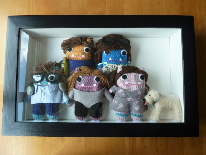 All Done! Framed Family Portrait Beasties, by CrawCrafts Beasties