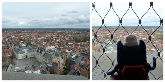 View from the top of Belfort, Bruges - CrawCrafts Beasties
