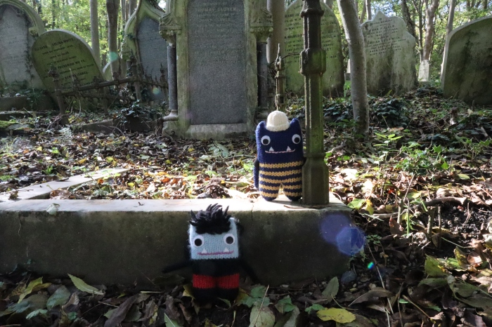 Explorer Beastie Garcia Beastie Highgate Cemetery - CrawCrafts Beasties