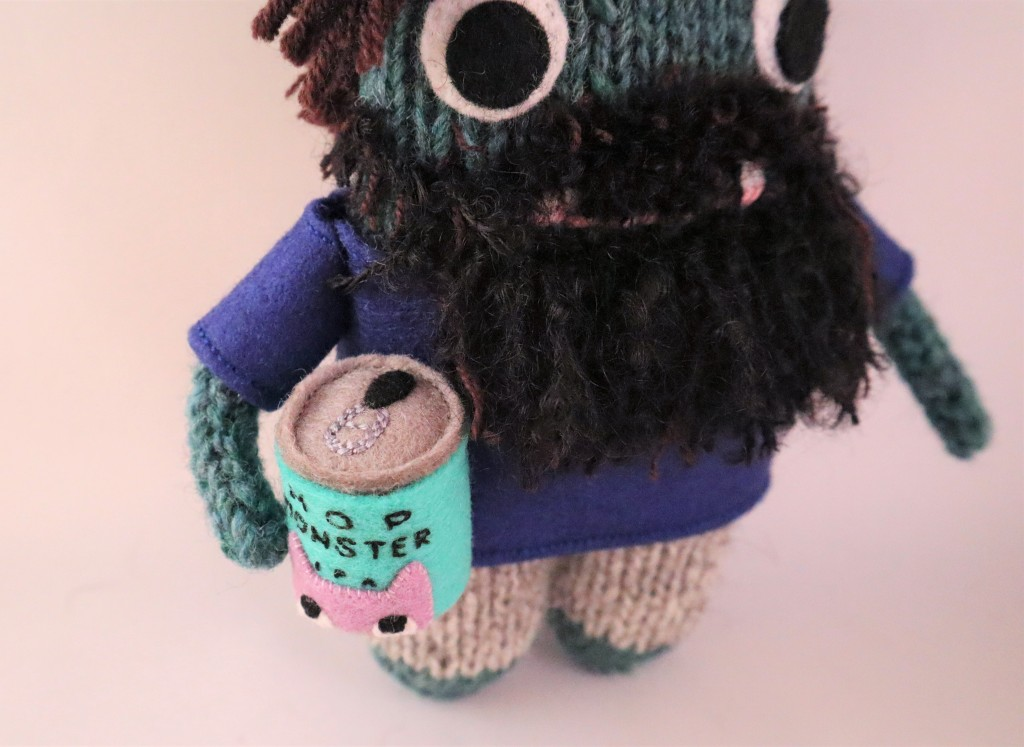 Hop Monster IPA can - CrawCrafts Beasties