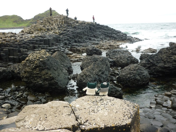 Paddy and Plunkett at the Giant's Causeway - H Crawford/CrawCrafts Beasties