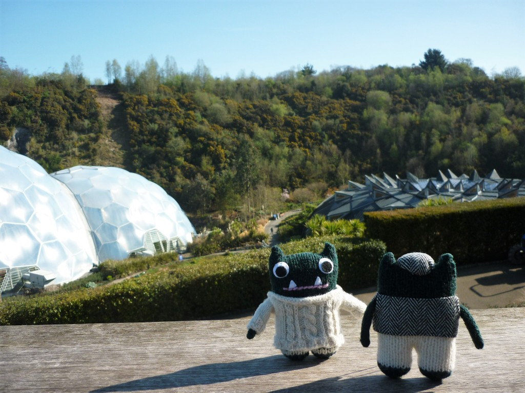 Paddy and Plunkett at the Eden Project - H Crawford/CrawCrafts Beasties