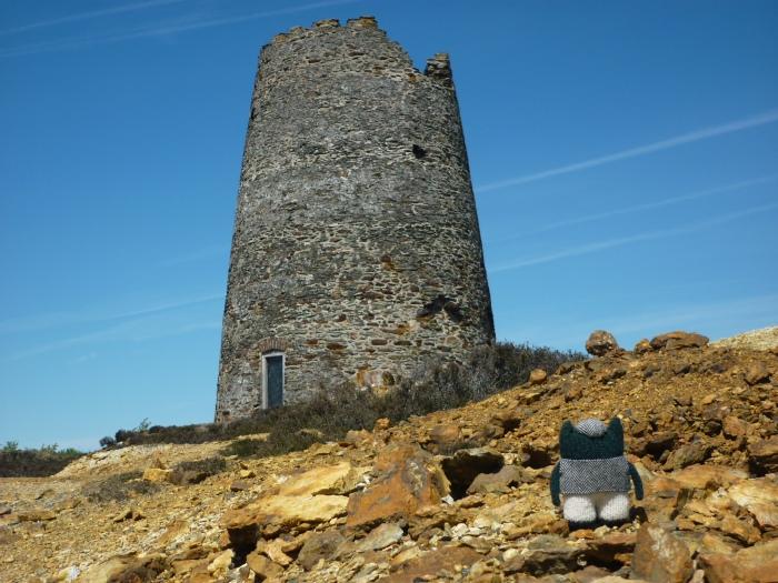 Plunkett at the Parys Mountain Windmill - H Crawford/CrawCrafts Beasties