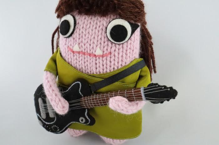 Angel Olsen Beastie Plays Guitar - CrawCrafts Beasties