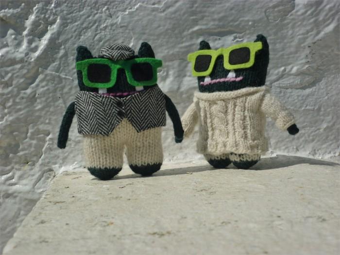 Paddy and Plunkett Enjoy the Sunshine - CrawCrafts Beasties