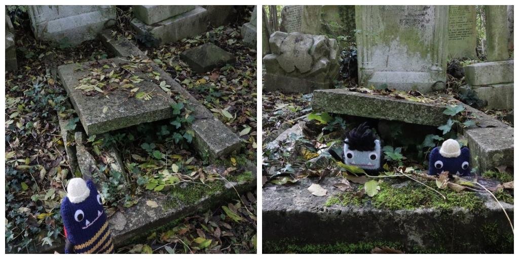 Monster Mischief in Highgate Cemetery - CrawCrafts Beasties