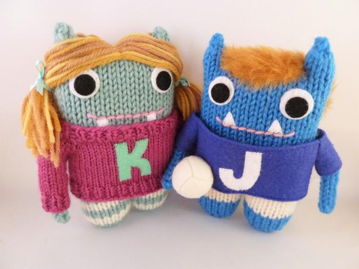 Katie Beastie and Jack Beastie, by CrawCrafts Beasties