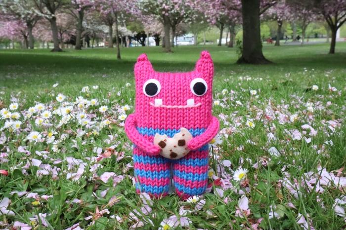 Cookie Beastie in our local Park - CrawCrafts Beasties