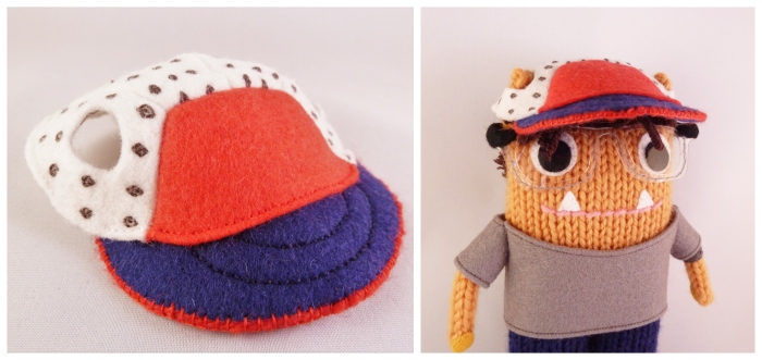 Spencer Beastie's Hat - Felt and Embroidery - CrawCrafts Beasties