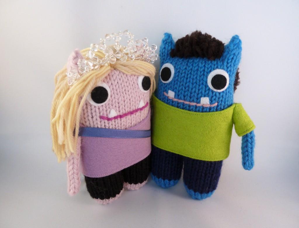 The Happy Couple, Wedding Gift Beasties by CrawCrafts Beasties